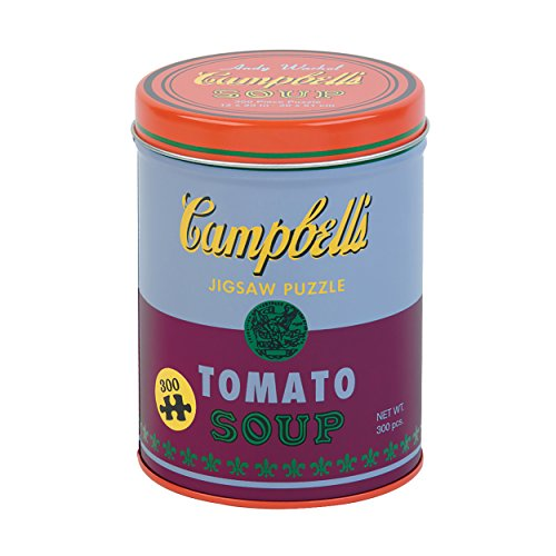 Mudpuppy Andy Warhol Soup Can Red Violet Jigsaw Puzzle (300Piece) Packaged in Metal Can