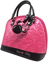 Disney Parks Exclusive Loungefly Minnie Loves Mickey Embossed Bowler Ball Bag Purse