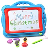Magnetic Drawing Board, AMOSTING Travel Doodle Sketch Board Drawing Educational Toy for Kids to Draw on Magic Scribble Boards With Funny Stamps