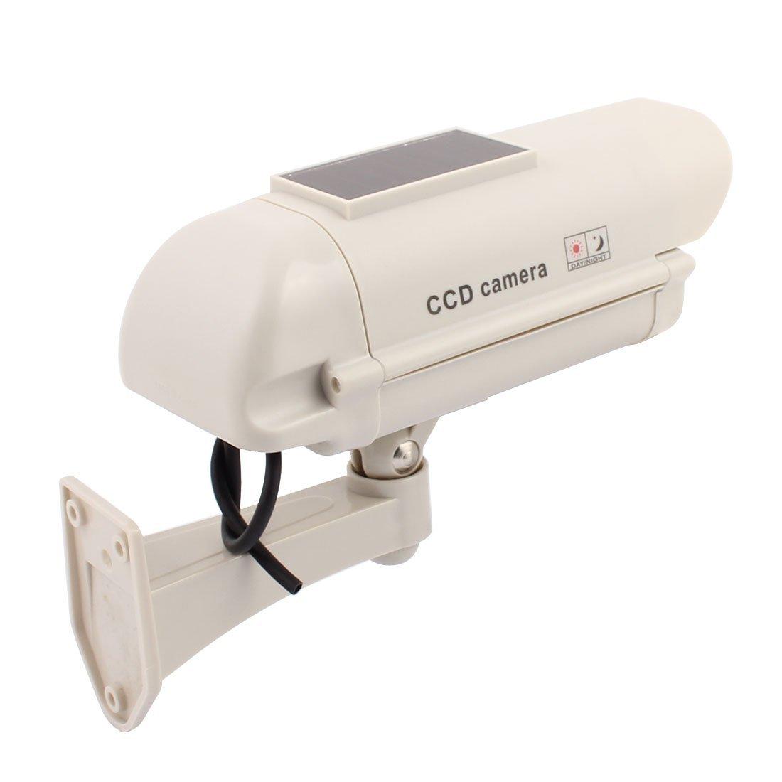 eDealMax interior de la cámara de vigilancia de energía solar de falso muñeco de seguridad CCTV con luz LED - - Amazon.com