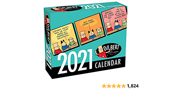 Dilbert 2021 Day to Day Calendar $7.99 (50% off) w/ Prime S&H
