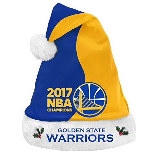FOCO Golden State Warriors 2017 NBA Champions Basic Santa HAT by FOCO