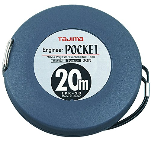 Tajima EPK20MW'Engineer Pocket' Long Tape, Grey, 20 m x 10 mm