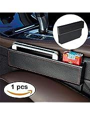 fancyauto piel sintética consola organizador de asiento de coche para bolsillo lateral universal de coche asiento Catcher Gap Filler Negro/Marrón/Caqui