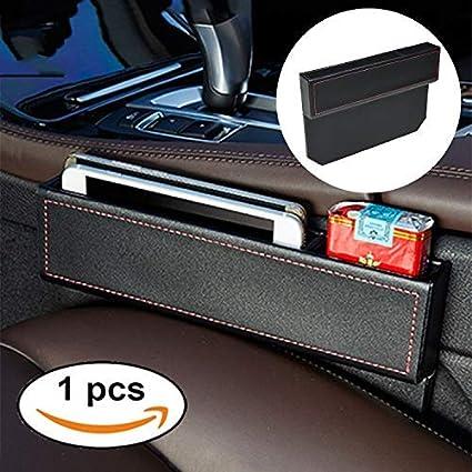 FancyAuto Consola de bolsillo para el coche de cuero Consola de bolsillo Organizador de bolsillo en portavasos Caja de almacenamiento Llave de la botella Colector de monedas