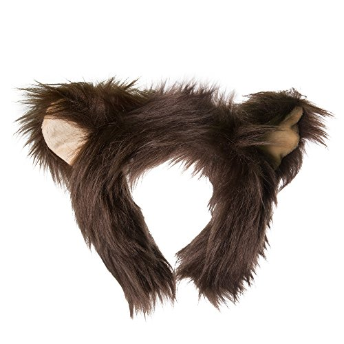 Life-like Grizzly Bear Ears Headband Accessory for Grizzly Bear Cosplay, Grizzly Bear Costume, Pretend Animal Play or Zoo Animal Party (Hamster Costume For Adults)