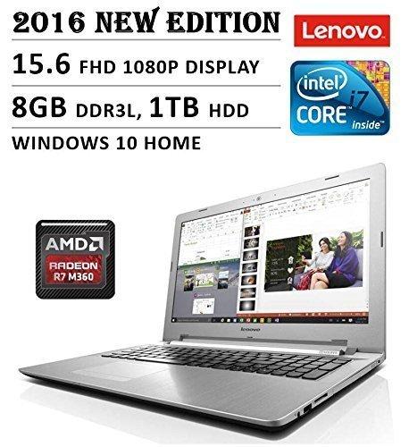 "2016 Lenovo 15.6"" Full HD Flagship High Performance Laptop PC, Intel Core i7-5500U Processor, 8GB RAM, 1TB HDD, DVD+/-RW, Webcam,Bluetooth, WIFI, HDMI, Backlit Keyboard, Windows 10"