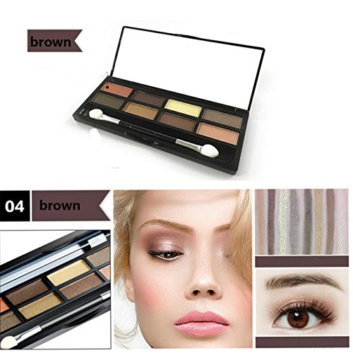 8 Colors Eyeshadow Eye Shadow Cosmetics Palette for Home and