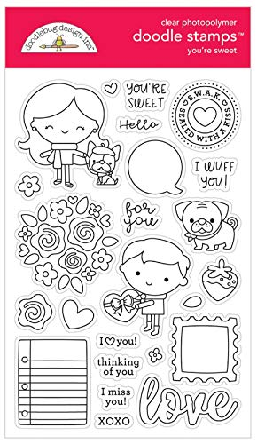 Doodlebug 6327 Love Clear Stamp You're Sweet