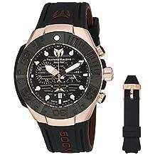 Technomarine Men's 'Black Reef' Swiss Quartz Stainless Steel Casual Watch (Model: TM-515019)