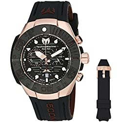 Technomarine Men's 'Black Reef' Swiss Quartz Stainless Steel Casual Watch (Model: TM-515019)