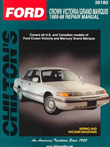 ford crown victoria and grand marquis 1989 98 chilton total car rh amazon com 2003 Mercury Marquis Repair Manual 1995 Mercury Marquis Repair Manual