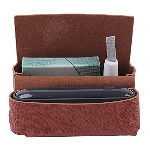 Satelliter Case for IQOS 3.0, High Quality PU Leather Cigarette Case (case only)(Brown)