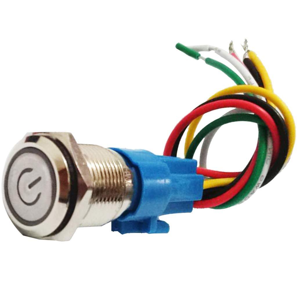 Filo da 150 Mm Interruttore Bottone Pulsante Angle Eye Connettore in Metallo di Button 16mm,12-24v