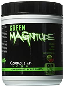Controlled Labs Green Magnitude Creatine Matrix Volumizer, Juicy Watermelon, 800 Gram