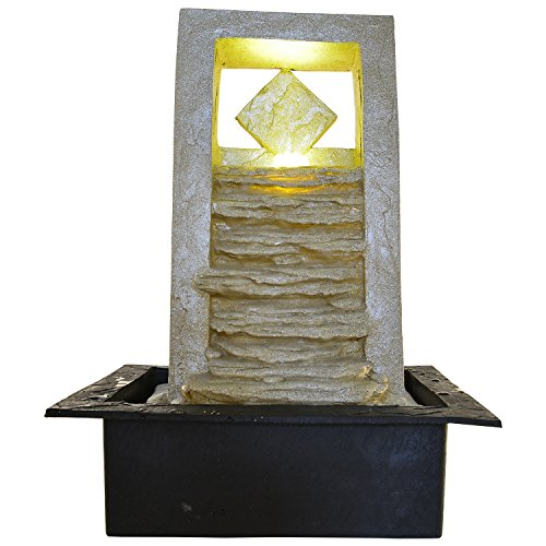 Kiara Polyston indoor/Outdoor natural looking LED light Ripple Water Fountain