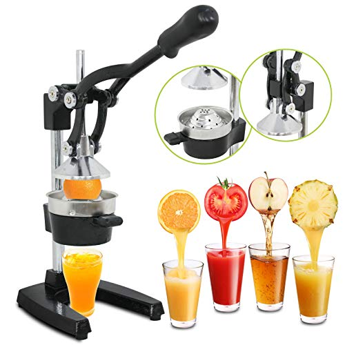 SUPER DEAL Manual Fruit Citrus Juicer Hand Press Juicer Juice Extractor Squeezer for Lemons, Limes and Oranges etc (Black)