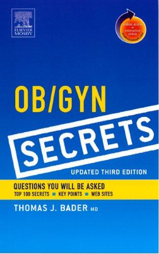 Ob / Gyn Secrets, Updated 3rd Edition