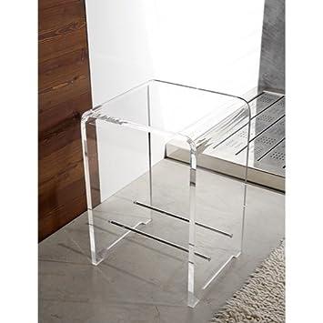 Toscanaluce Plexiglass Square Bathroom Stool K130 Design Ideas