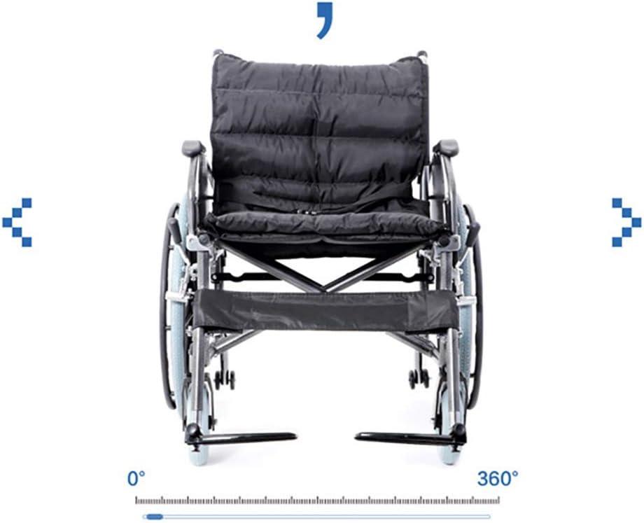 CZL-Wheelchairs Aumentar el Engrosamiento de la Silla de Ruedas, Aumentar el Aumento de la Carga de la Silla de Ruedas para Ancianos Obesos 300 Kg Ancho de Asiento 56 cm