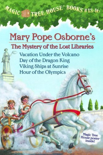 Magic Tree House Boxed Set, Books 13-16: Vacation Under the Volcano, Day of the Dragon King, Viking Ships at Sunrise, and Hour of the Olympics by Osborne, Mary Pope (2008) Paperback (Magic Tree House Movie)