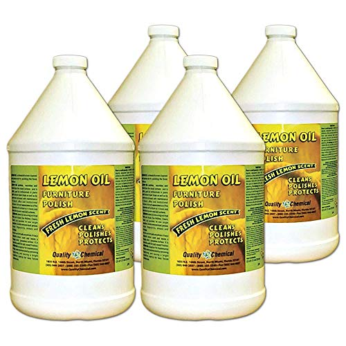 Lemon Oil Furniture Polish (finest blend of lemon oils, waxes & moisturizers & UV protectants)-4 gallon case