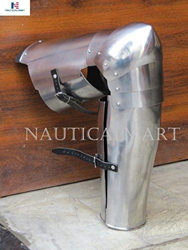 NAUTICALMART Medieval Leg Guards Leg Armor, Gothic UPPER leg- knees and greaves SCA