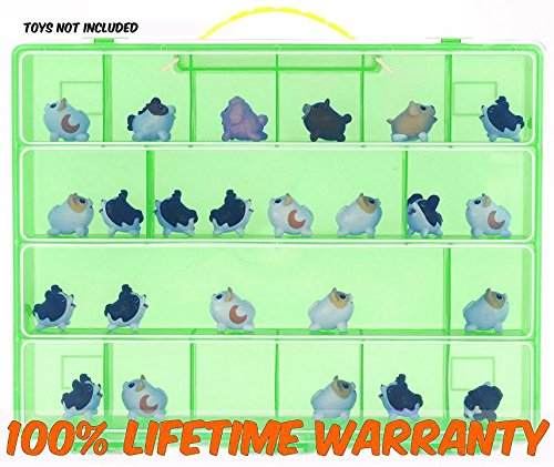 Chubby Puppies Carrying Case- Stores Dozens Of Chubby Puppies - Durable Toy Storage Organizers By Life Made Better- Green