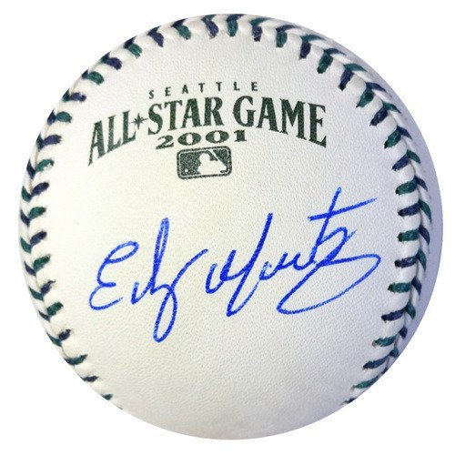 Edgar Martinez Signed Official 2001 All-Star Baseball Seattle Mariners - Autographed MLB (Martinez Autographed Mlb Baseball)