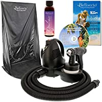 Belloccio Premium (Model T75) Professional Sunless HVLP Turbine Spray Tanning System; Spray Tanning Curtain, 4 oz. Opulence Tanning Solution & Free User Guide DVD