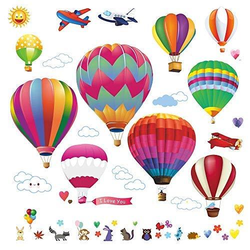 hot air balloons wall decals stickers precut decorative