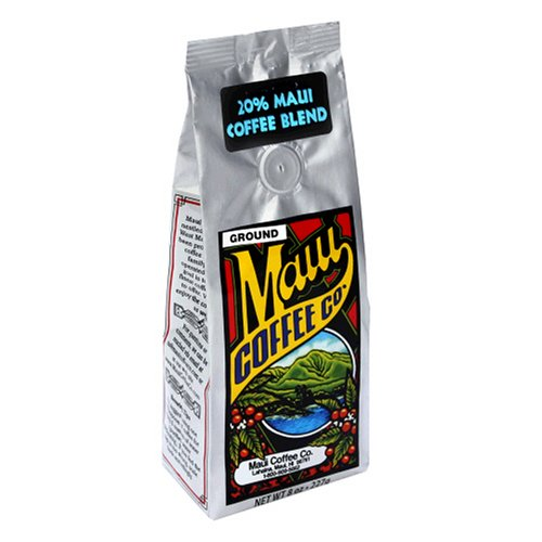Maui Coffee Company 20% Maui Blend Coffee (Ground), 7-Ounce Bag (Pack of 3)
