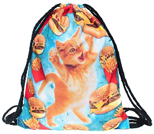 Kukubird Parte Posterior Simple Impresión Varios Pack Con Bolsa De Polvo De Kukubird Fast Food Cat