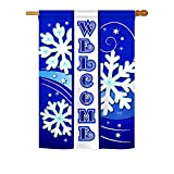 Breeze Decor H114074 Welcome Winter Wonderland Vertical Garden Flag, 28″ x 40″, Multicolor Review