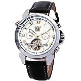 JARAGAR Men Unisex Business Tourbillon Automatic Watch Leather Strap Complex Function Luminous Dial + BOX