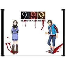"""9 Hours, 9 Persons, 9 Doors Video Game Fabric Wall Scroll Poster (21"""" x 16"""") Inches"""