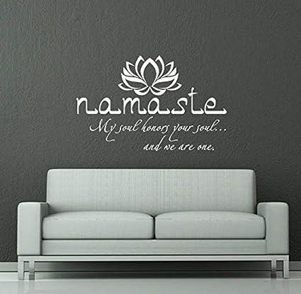 Wall Decals Quotes Buddha Quote Sign Words Namaste Yoga Mandala
