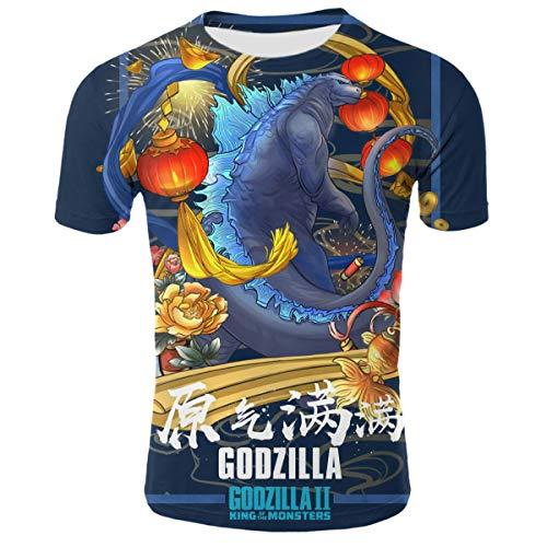 Shirts Short Sleeve Kids Tee Unisex Youth 3D Godzilla Poster 3D Printing T