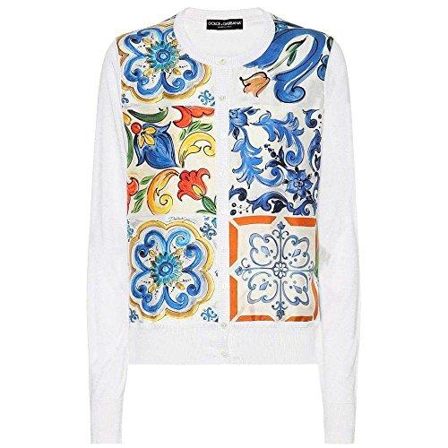 (ドルチェ&ガッバーナ) Dolce & Gabbana レディース トップス カーディガン Printed silk cardigan [並行輸入品]