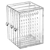 Orgrimmar Acrylic Jewelry Storage Box Earring Display Stand Organizer Holder 3 Vertical Drawer