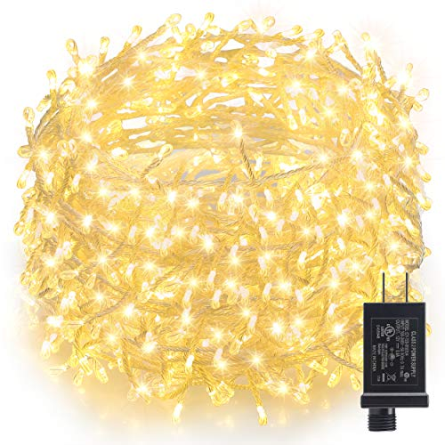 GDEALER Super Bright Copper Wire Lights Waterproof Plug in Fairy Lights,16ft 300 Led String Lights Bedroom, Patio, Parties Christmas Lights Christmas Decor Warm White by GDEALER