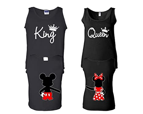 d63d43759d7abe Amazon.com  King and Queen Tank Top