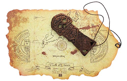 The Goonies Map and Key Replica Set | Pirate Theme Accessories | Premium Quality Movie Props |Perfect for Pop Culture Fans, Collector, Cosplay, Halloween, 80s Party, Kids Costumes, Theatre ()