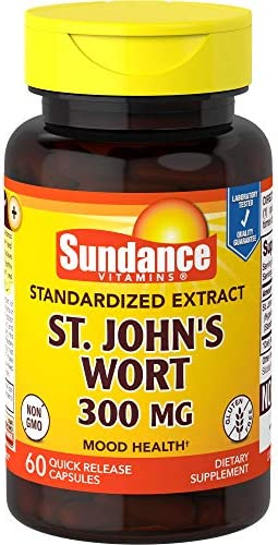 Sundance St John s Wort Extract 300 mg Tablets, 60 Count
