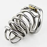 Hetam New Stainless Steel Male Chastity Device 80mm Cock Cage Peins Lock BDSM Sex Toys For Men Chastity Belt