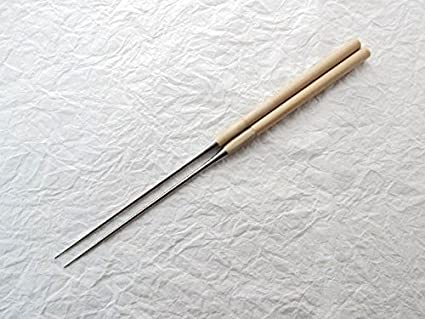 YuiSenri MORIBASHI Chopsticks, Stainless Steel tip with WHITE Buffalo Horn Bolster (150m/5.9)