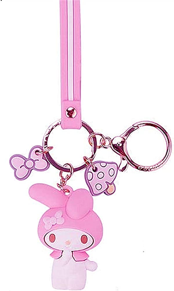 NEW MY MELODY KEYCHAIN Cute Cartoon Key Ring Purse Charm Party Favors