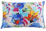 Silk Pillowcase for Hair and Skin with Hidden Zipper Chinese Pastel Water Colors Print Standard/Queen (pattern 3)
