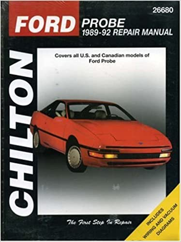 Ford Probe, 1989-92 (Chilton's Total Car Care Repair Manual ... on 89 ford transfer case, 89 ford clutch diagrams, 89 ford electrical schematics, 89 ford f350 powerstroke, 89 ford engine,