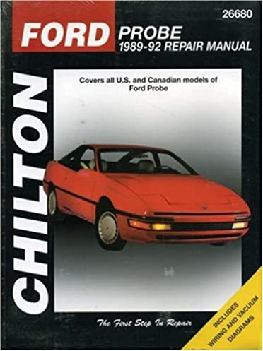 ford probe 1989 92 chilton s total car care repair manual rh amazon com 1989 Ford Probe GT 1992 Ford Probe